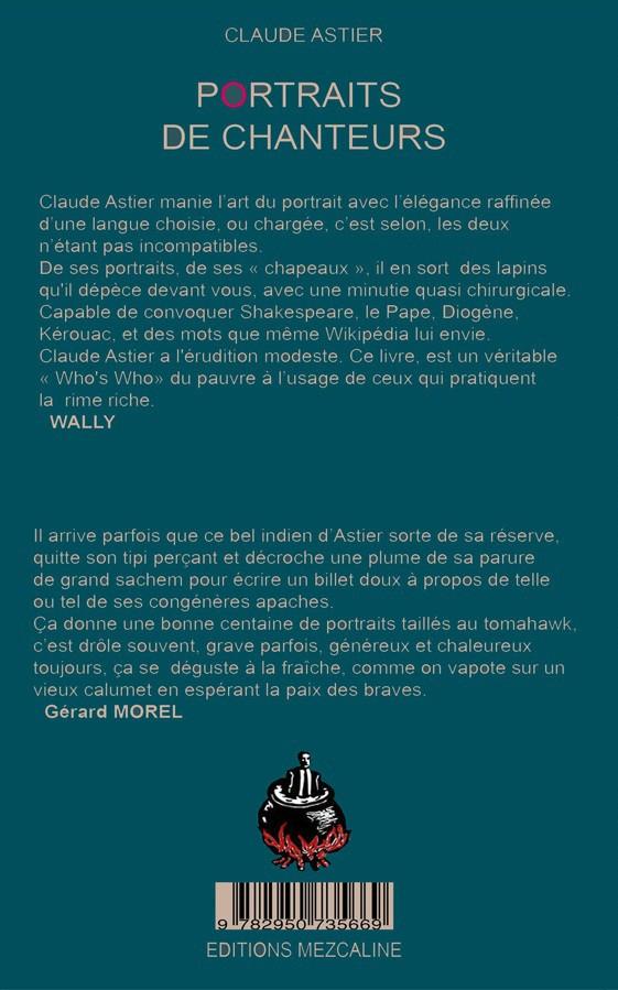 Claude Astier : Portraits de chanteurs (livre)