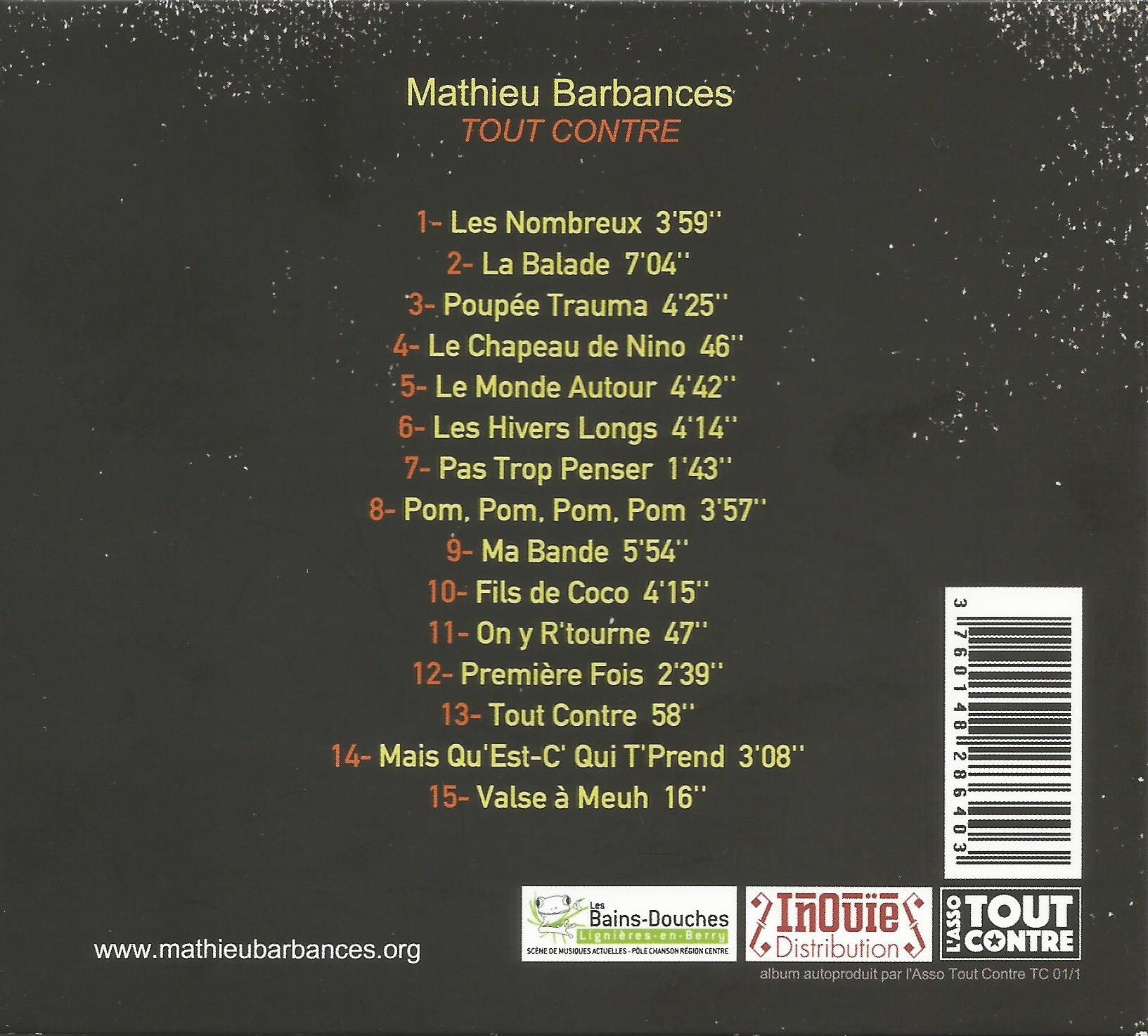 Mathieu Barbances : Tout contre